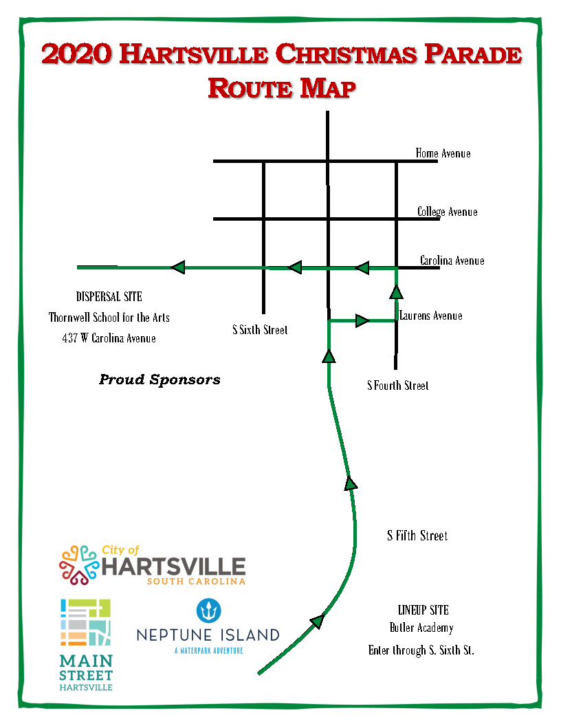Christmas Parade Route 2020 2020 Christmas Parade Route Map – Hartsville for the Holidays